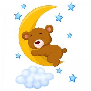 105118-lamina-vinilo-infantil-decorativo-osito-durmiendo-en-luna